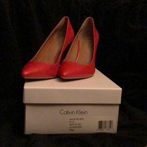 Calvin Klein Red size 7 pumps